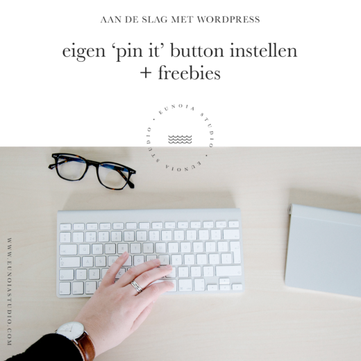 Aan de slag met WordPress: een (eigen) 'Pin It' button instellen + Freebies | Eunoia Studio