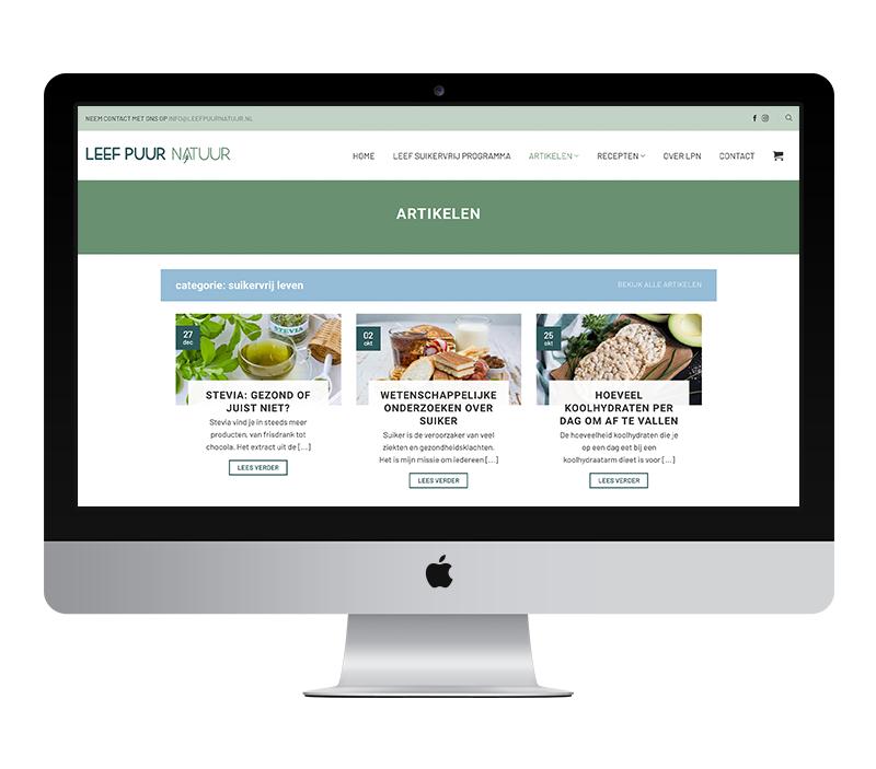 Webdesign: Leef Puur Natuur | Eunoia Studio