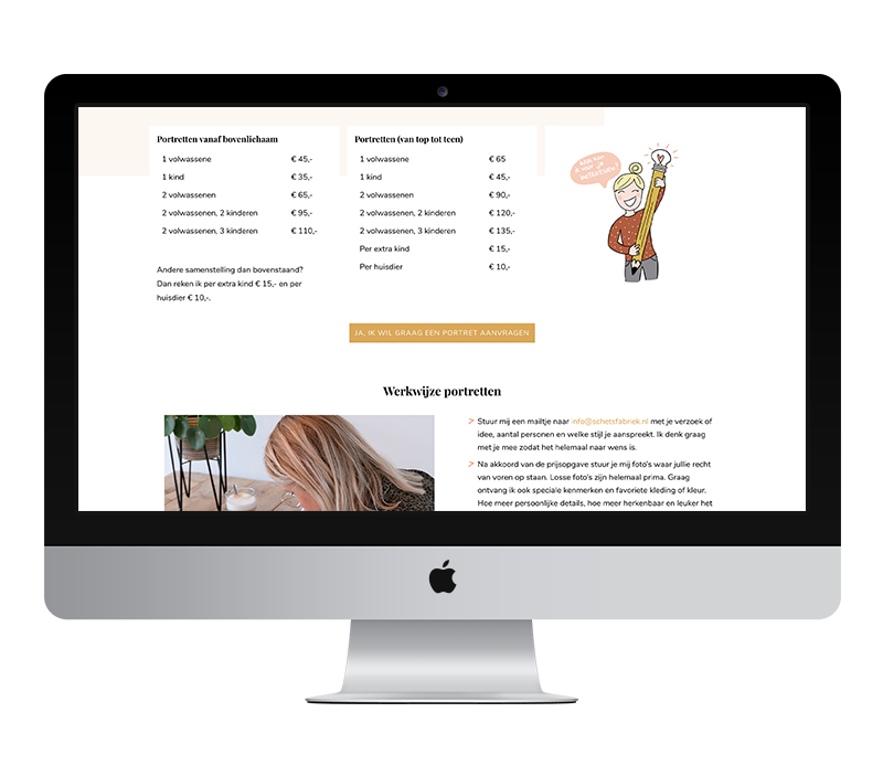Webdesign: Schetsfabriek | Eunoia Studio