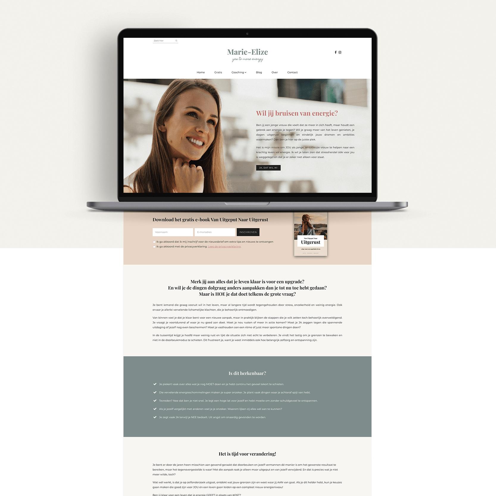 Webdesign - Marie-Elize | Eunoia Studio