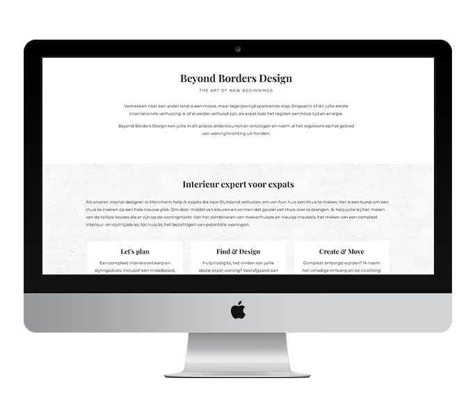 Webdesign: Beyond Borders Design | Eunoia Studio