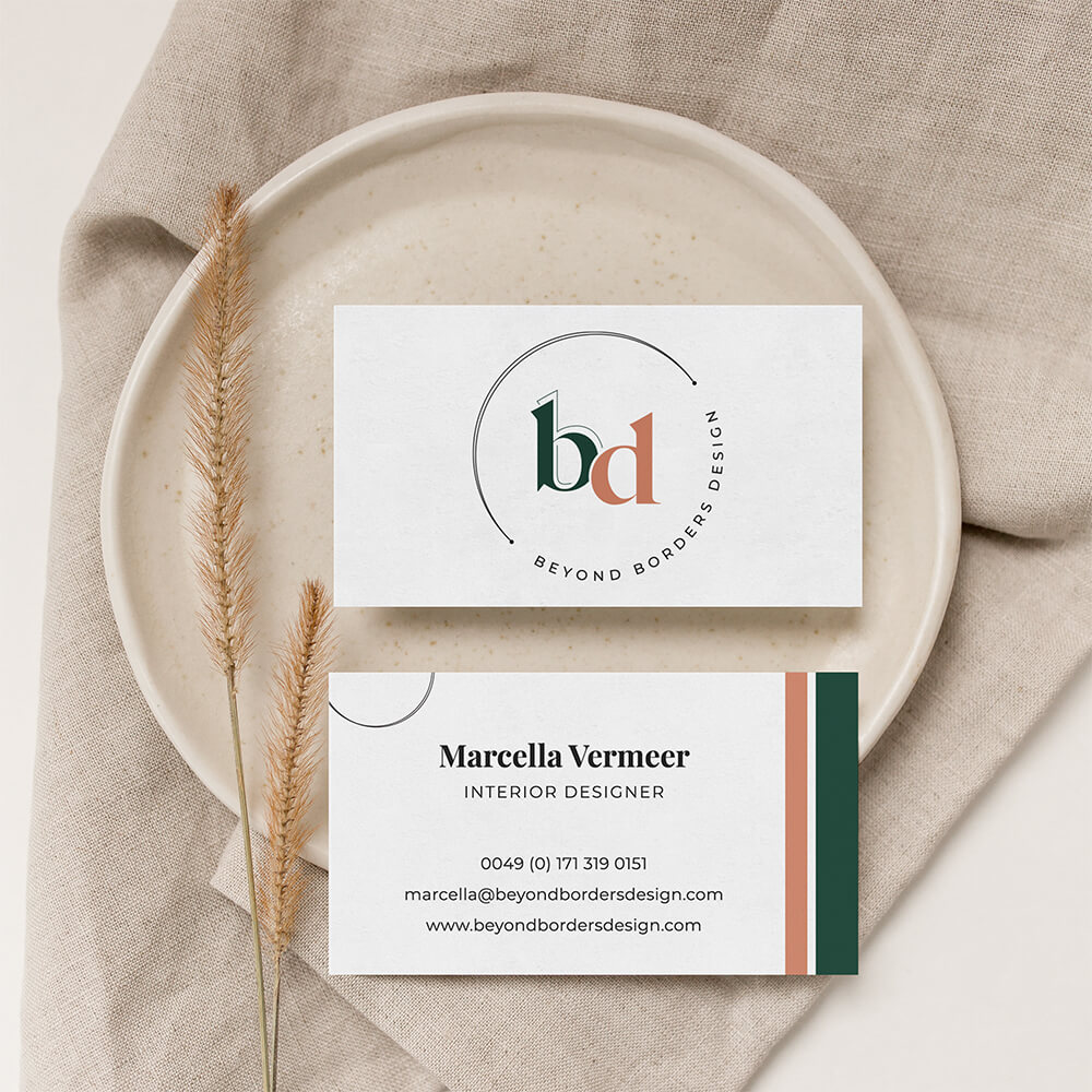 Business Cards: Beyond Borders Design | Eunoia Studio