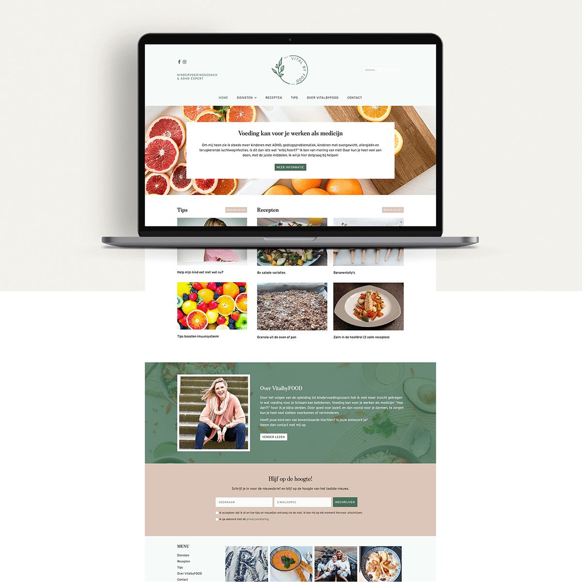 Webdesign - VitalbyFOOD | Eunoia Studio