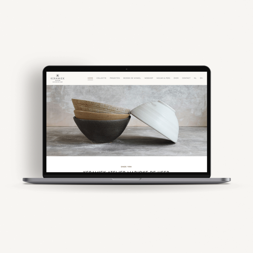 Webdesign - Keramiek Atelier Marjoke de Heer | Eunoia Studio