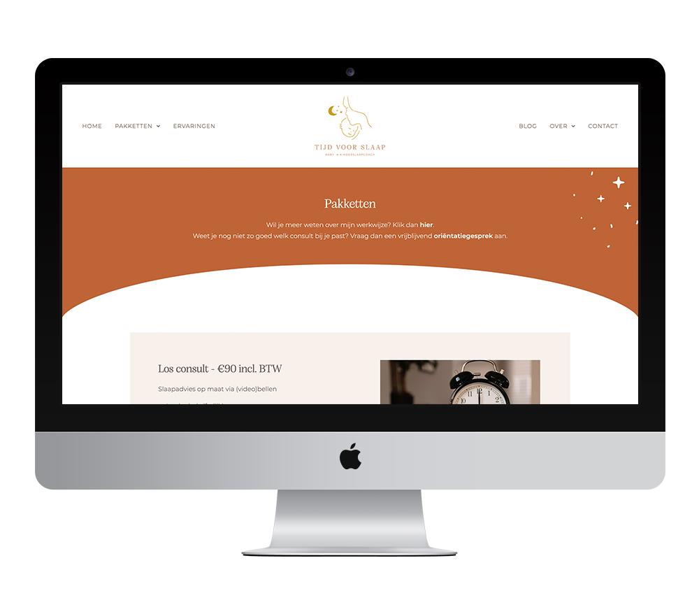 Webdesign: Tijd voor Slaap   Eunoia Studio