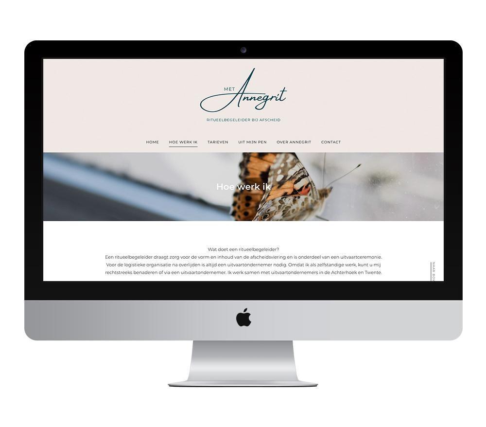 Webdesign: Met Annegrit Ritueelbegeleider | Eunoia Studio