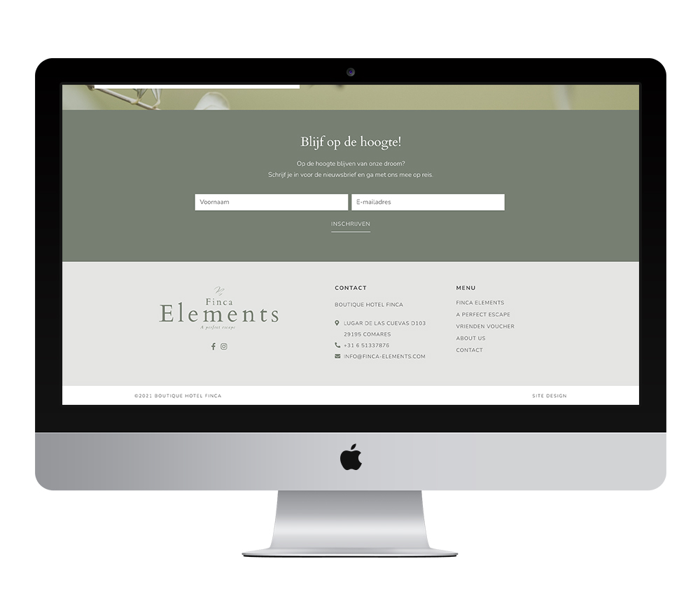 Webdesign: Finca Elements | Eunoia Studio