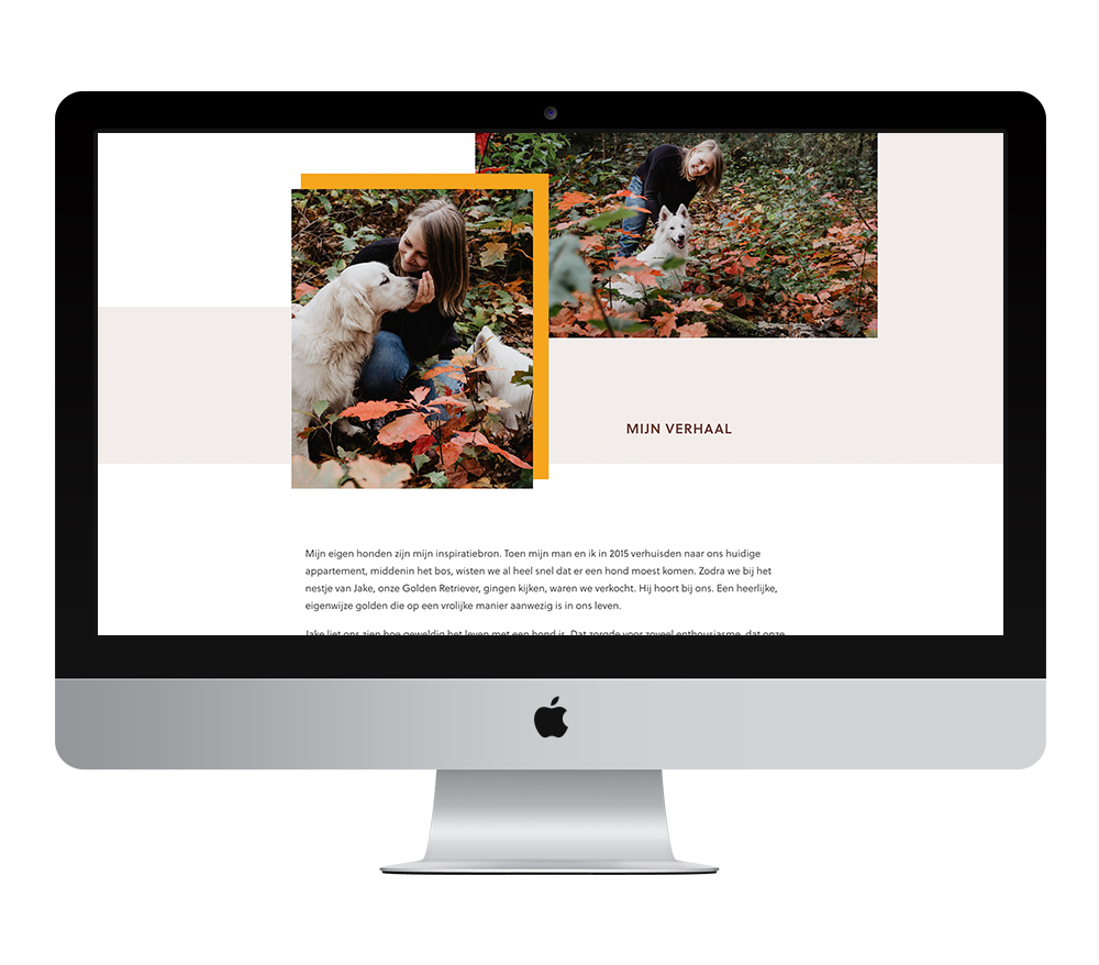 Webdesign: Hondengedragscoach Lisse van de Groep | Eunoia Studio