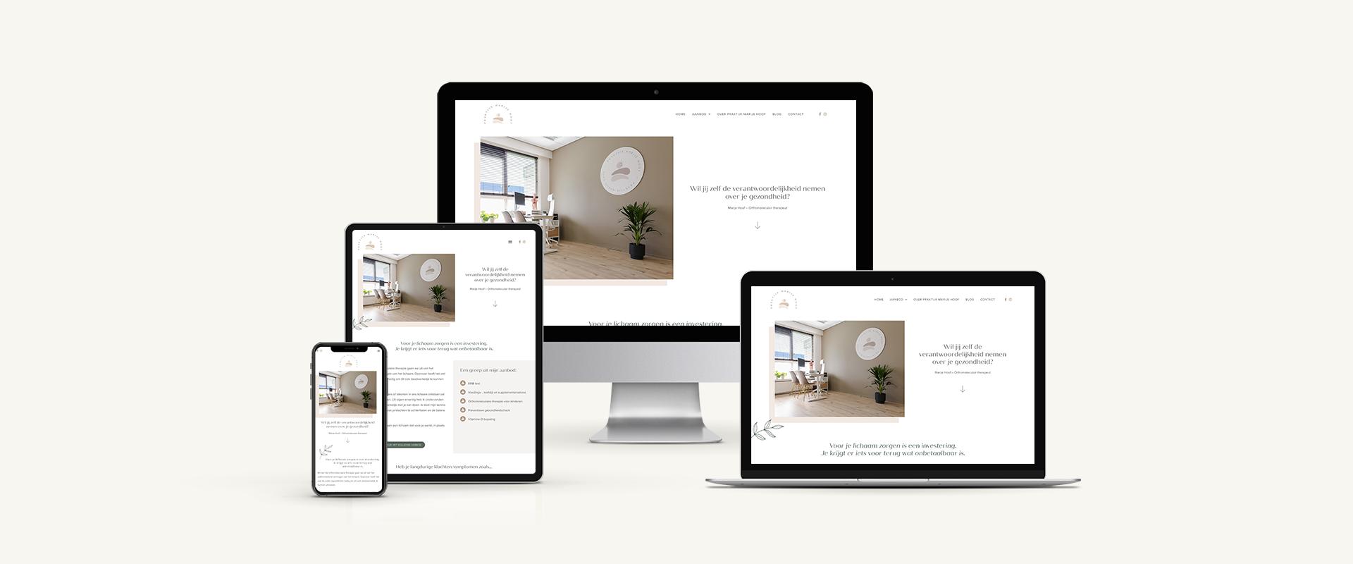 Webdesign: Praktijk Marije Hoof   Eunoia Studio