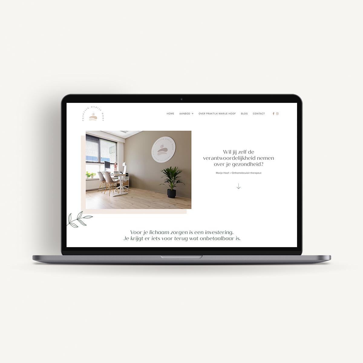 Webdesign: Praktijk Marije Hoof | Eunoia Studio
